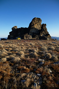 Our camp under the tor