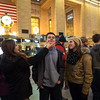 Zoe, Tim and Taylor at Grand Central Station, NYC