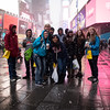 Our gang in Times Square--loving it in spite of the weather:  Anthony, Peter, Kenzie, Joe, Jonathan, Allison, Timothy, Jocelyn, Zoe and Erin