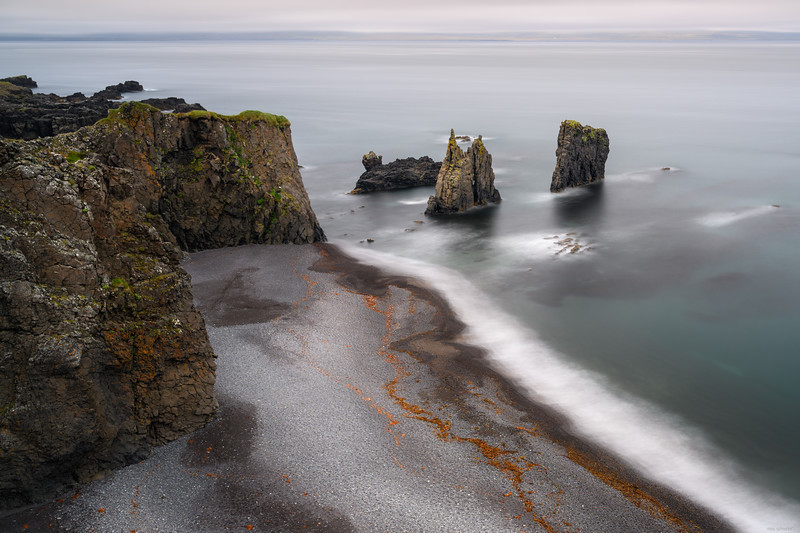 Broken sea stacks