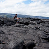 Timothy at the end of Chain of Craters road, where the lava flow has completely covered everything.