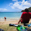 We didn't take too many pictures at beaches because all of us wanted to swim...or snorkel, in this case in Hanauma Bay.