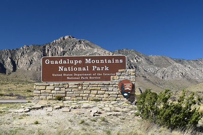 Welcome Sign | Guadalupe Mountains NP