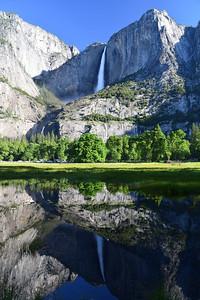 Yosemite Falls Reflection   Yosemite National Park