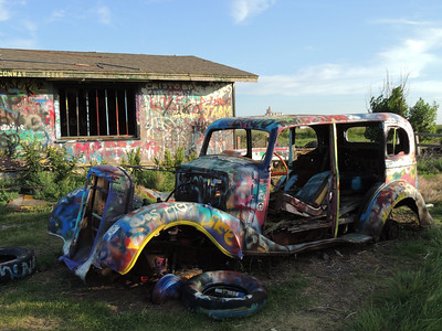 VW Slug Bug Ranch | Route 66 in Texas