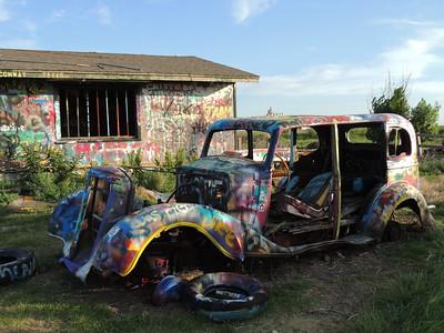 VW Slug Bug Ranch | Route 66 in Texas