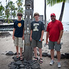 Tim, Ki'i, Jonathan, and Tom at the Place of Refuge