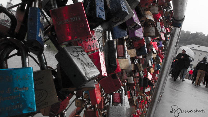 A Love Lock Bridge