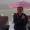 McKenna on the Danube in the Rain
