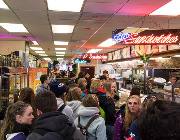 A true NYC experience--the deli.  Utter chaos and high energy--the deli staff took and filled the orders of all 44 of us in 15 minutes flat.