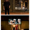 Second show: Hamlet, starring Andrew Scott (familiar to most as Moriarty from BBC's Sherlock--we have a theme going now: last time we saw Martin Freeman in Richard III; this time Mr. Scott in Hamlet; next time we'll shoot for Benedict Cumberbatch!)  These are production shoots from the media section of the official website.