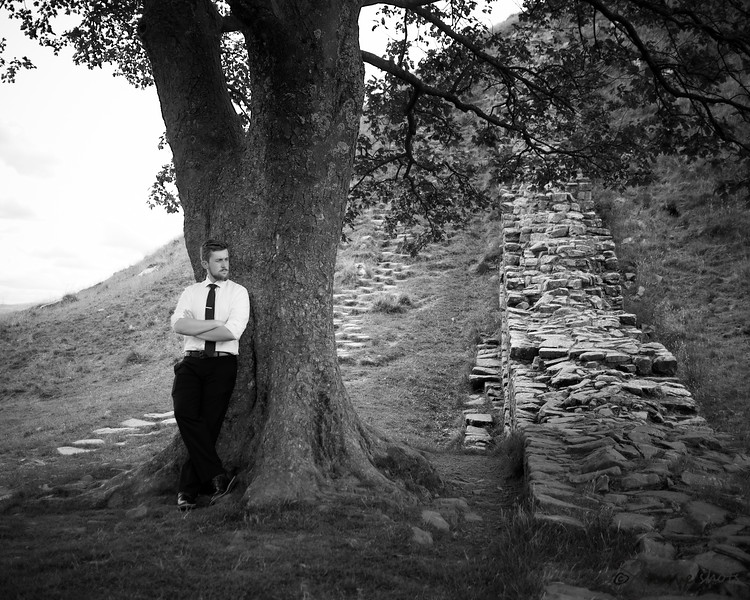 Jonathan Stueve, Hadrian's Wall, England. 2017, 20 years old. Photo by Heather.