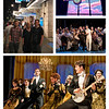 First show of the trip: Half-a-Sixpence at the Noel Coward.  It was great--especially the dancing.  The young lead, Charlie Stemp, had a star-making turn.  Top left photo by Tom; empty stage shot by Heather; production photos by Manuel Harlan (available at the media section of the official website).