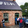 We were told in no uncertain terms that we had to have the fried fish and chips at Davy's in the Beamish Museum.  Locals stand in line for up to an hour for the newspaper-wrapped comfort food. Photo by Heather.