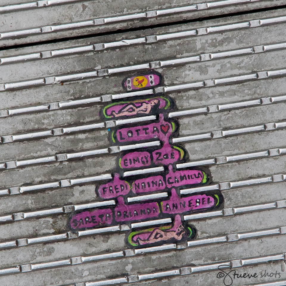 Gum Art (Embedded in the Treads of the Bridge)