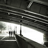 Walking Along the Thames, under the Blackfriars Bridge