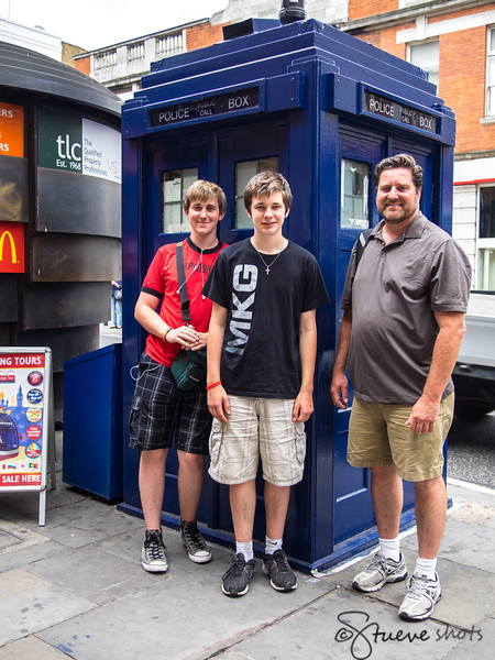 And Then, in a Fan's Hat-Trick, Outside Earls Court, We Find the TARDIS