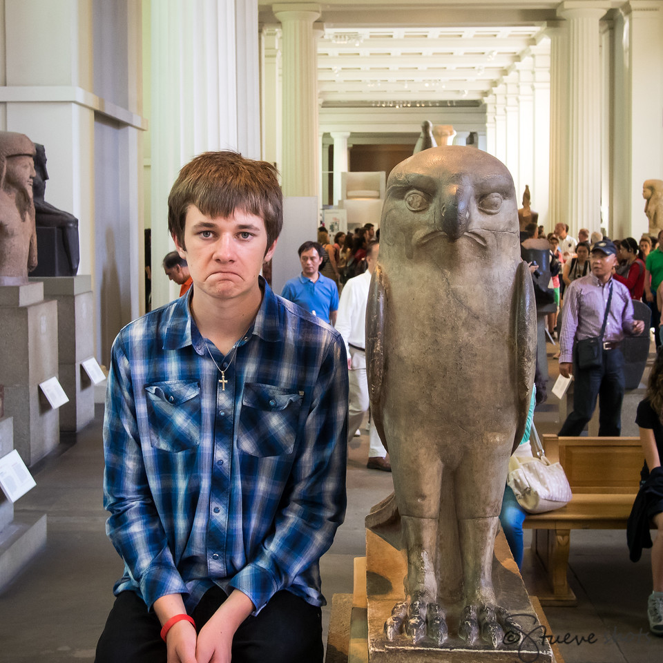 To Our Surprise, We Find an Ancient Sculpture Bears an Uncanny Resemblance to Someone Quite Familiar to Us.