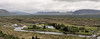 Panorama:  Þingvellir (or Thingvellir), or 'Parliament Meadows', Iceland (or Island)