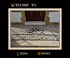 """MS G11 00<br /> <br /> Everywhere I saw the white and black """"chochlaki"""" pebbled floors and entry ways that Lindos is known for."""