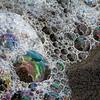 Iridescence in seafoam.
