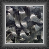 Abstract from brushed stainless steel detail (frame v2) (sc 2018-8-9)