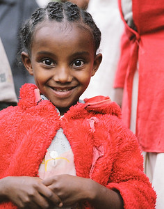 Student at the Mekanehiwot Primary School in Addis Ababa, Ethiopia