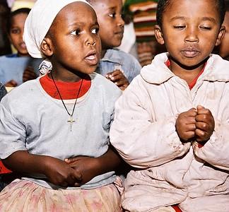Students at the Tesfa Foundation's Tsegereda Memorial School in Addis Ababa, Ethiopia
