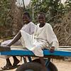 Boys on a donkey cart in Gereida, Sudan