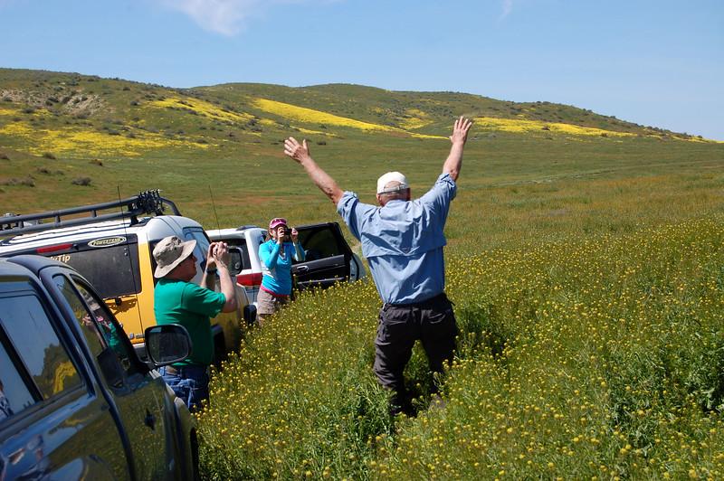 Rick hopping through the flora joyously