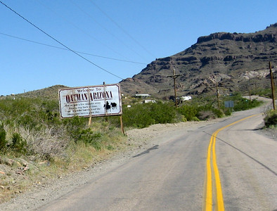 Route 66 approaching Oatman, AZ