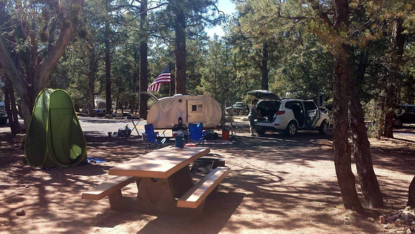 Our first night was at Mather Campground but due to a mix-up in our reservations we had to move to Ten X Campground.