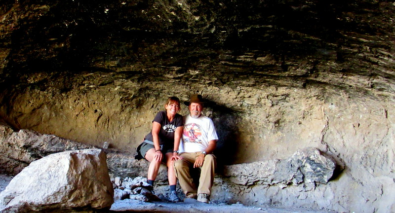 Patti and I in the cave
