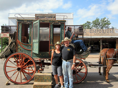 Patti and I took a ride on the old stage coach.