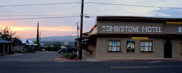 The Tombstone Motel where we stayed.