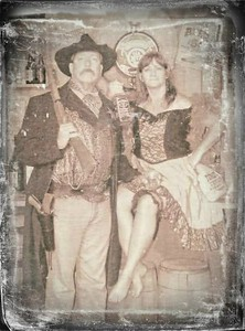 An old picture of Patti and I visiting Tombstone.