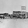 Downtown Tombstone after 1882 fire destroyed the town's business corridor for the second time in two years.