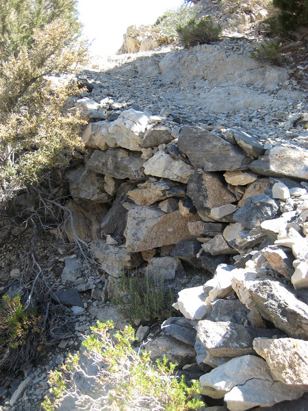 Small rock wall on the way to the Mines.