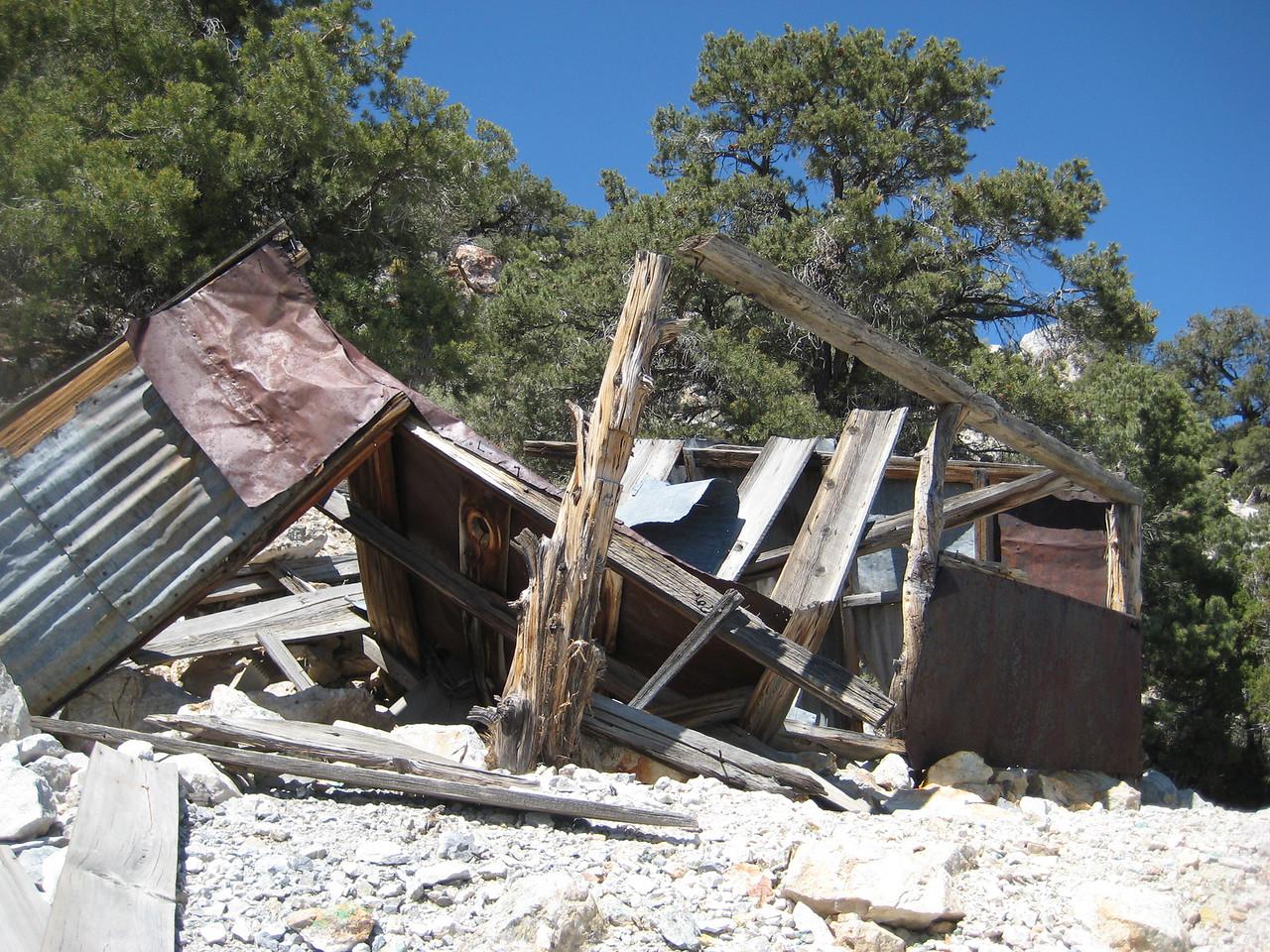 Fallen down cabin.