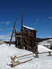 Old mining structure, Summit County, Colorado.  March 2010