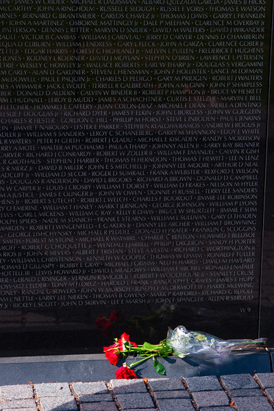 Vietnam Veterans Memorial Wall, Washington DC. October 2009