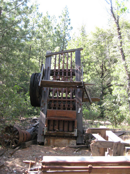 "The best find of the day...a 5-Stamp Mill still intact at the ""Pocahontas Mine""."