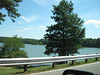 The road passed over the reservoir, which looks mighty inviting for boats! Sweetwater Creek State Park, 07/29/2012
