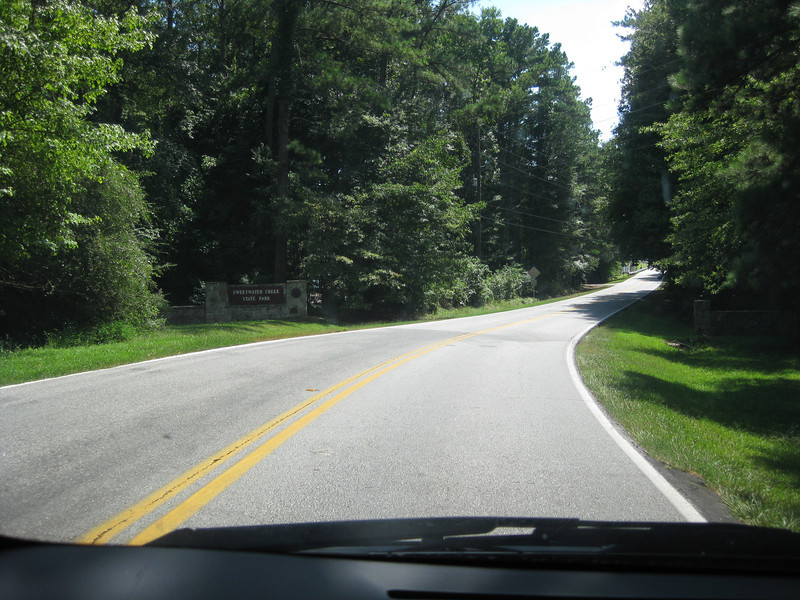 Driving into the park. Sweetwater Creek State Park, 07/29/2012