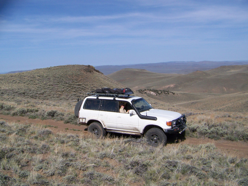 Up in the mountains, east of Summit Lake Indian Reservation.  The vistas were incredible in every direction.