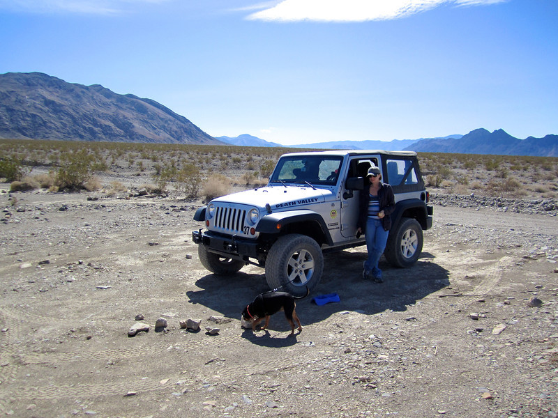 Jamie & Izzy in Death Valley.