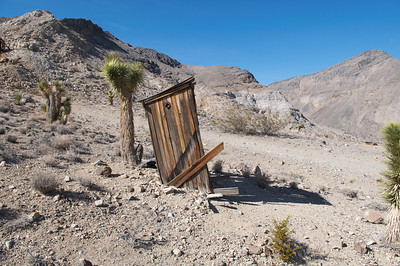 The outhouse at the Lost Burro Mine in Death Valley.