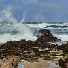 Surf breaking over the rocks at Pescadero State Beach