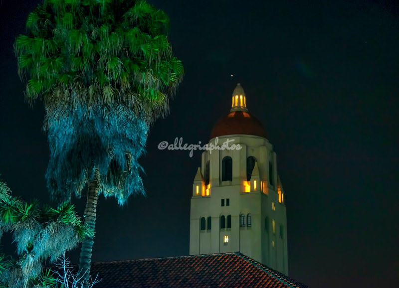 Hoover Tower at Night