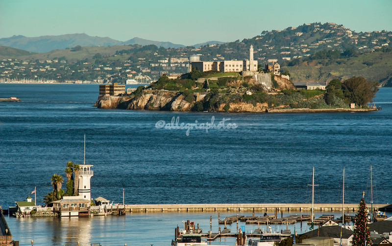 Pier 39 and Alcatraz as seen from Russian Hill, San Francisco
